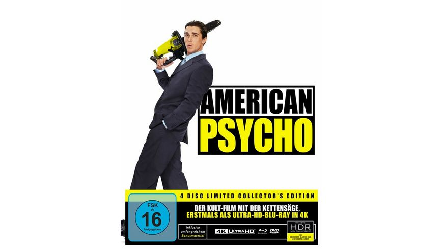 American Psycho - Special Edition  (4K Ultra HD) (+ Blu-ray 2D) (+ 2 DVDs) (+ CD)