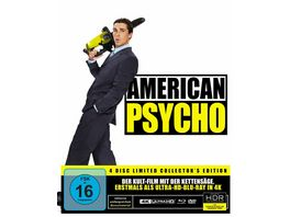 American Psycho Special Edition 4K Ultra HD Blu ray 2D 2 DVDs CD