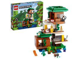 LEGO Minecraft 21174 Das moderne Baumhaus Spielzeug Set mit Figuren