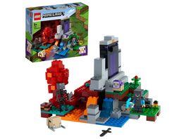 LEGO Minecraft 21172 Das zerstoerte Portal Spielzeug ab 8 Jahre