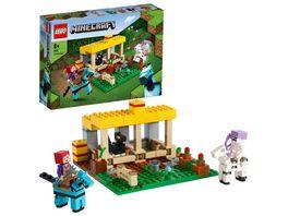LEGO Minecraft 21171 Der Pferdestall Bauernhof Spielzeug mit Figuren