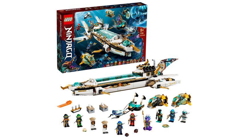 LEGO NINJAGO 71756 Wassersegler U-Boot Spielzeug Set mit Mini Figuren