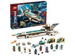 LEGO NINJAGO 71756 Wassersegler U Boot Spielzeug Set mit Mini Figuren