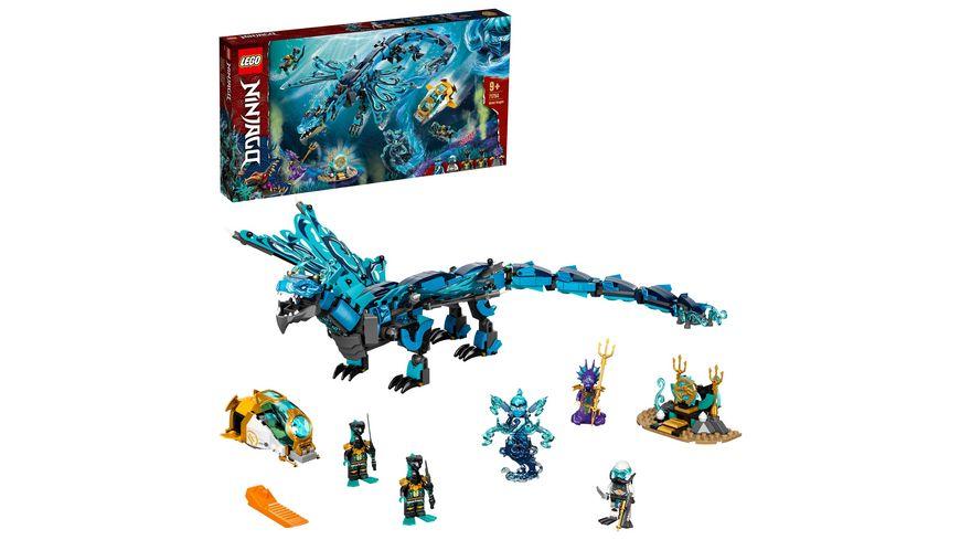 LEGO NINJAGO 71754 Wasserdrache Drachen Spielzeug Set mit Mini Figuren