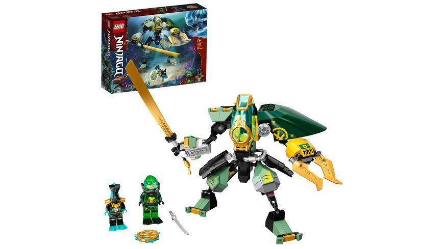 LEGO NINJAGO 71750 Lloyds Hydro-Mech Set mit Ninja Mini Figuren