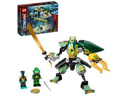LEGO NINJAGO 71750 Lloyds Hydro Mech Set mit Ninja Mini Figuren
