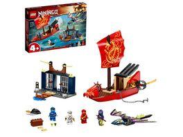 LEGO NINJAGO 71749 Flug mit dem Ninja Flugsegler Set mit Drachen Figur
