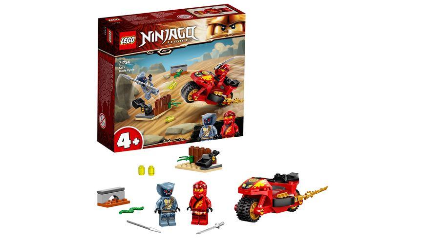 LEGO NINJAGO 71734 Kais Feuer-Bike Motorrad Spielzeug Set ab 4 Jahren
