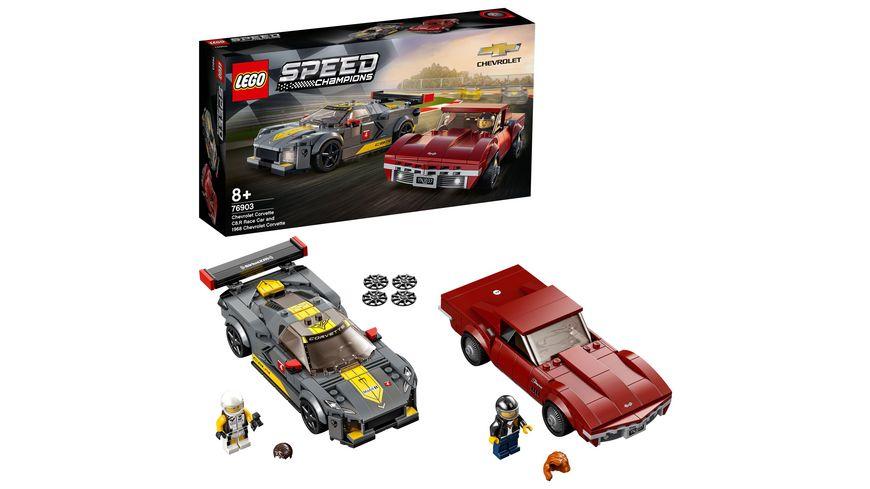 LEGO Speed Champions 76903 Chevrolet Corvette C8.R & 1968 Chevrolet Corvette