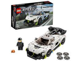 LEGO Speed Champions 76900 Koenigsegg Jesko Rennwagen Spielzeugauto
