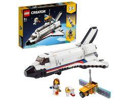 LEGO Creator 31117 3 in 1 Spaceshuttle Abenteuer Weltraum Spielzeug