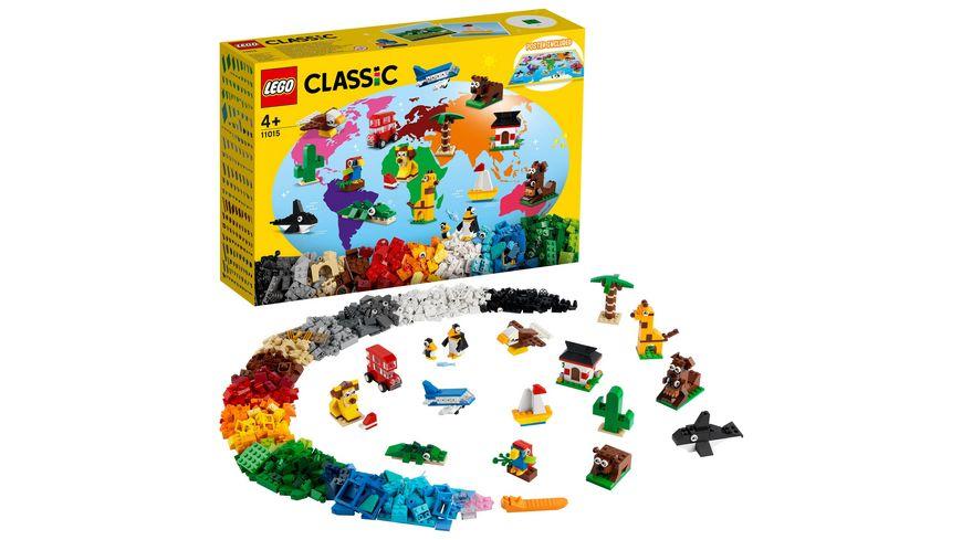 LEGO Classic 11015 Einmal um die Welt Bausteine, Spielzeug ab 4 Jahre