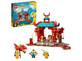 LEGO Minions 75550 Minions Kung Fu Tempel Spielzeug Figuren fuer Kinder