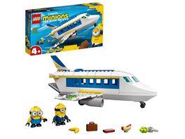 LEGO Minions 75547 Minions Flugzeug Spielzeug mit Mini Figuren