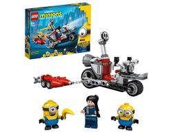 LEGO Minions 75549 Unaufhaltsame Motorrad Jagd Spielzeug mit Figuren