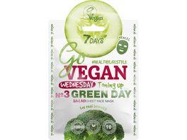7DAYS GO VEGAN WEDNESDAY GREEN DAY Vegane Gesichtspflege Maske Brokkoli Rosmarin Gurke Extrakt mit Vitamin E