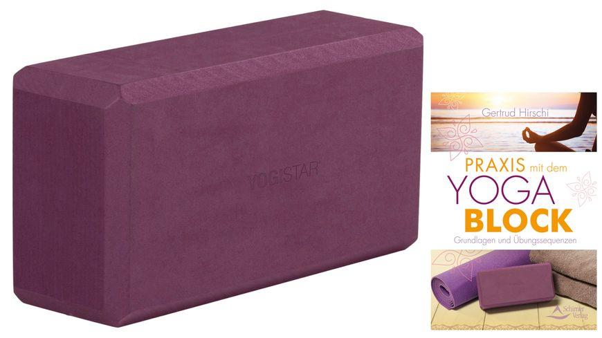 Yoga Bundle - Yogabuch von Gertrud Hirschi + Yogablock