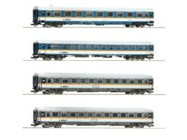 Roco 74092 4 tlg Set Reisezugwagen alex