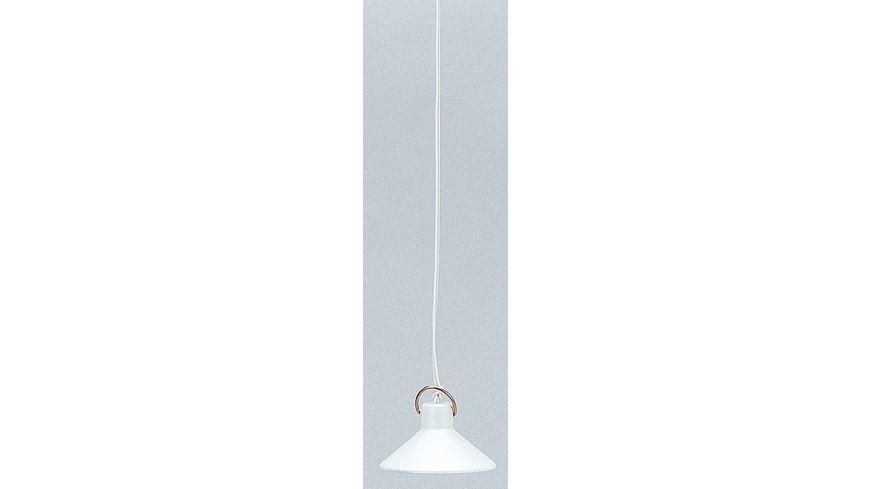 Kahlert Licht 10520 - Hängelampe mit Metallschirm in weiß