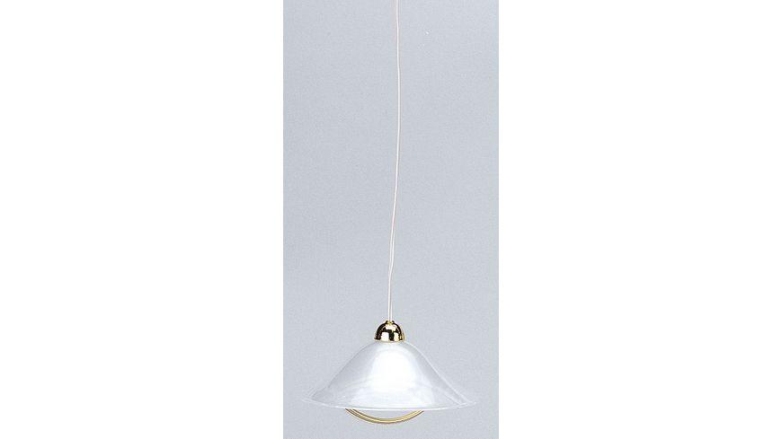 Kahlert Licht 10592 - Hängelampe mit Kunststoffschirm mit Goldbügel
