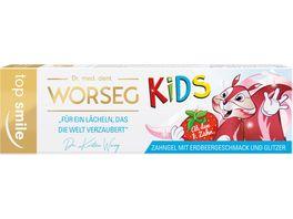 Dr WORSEG Zahngel top smile KIDS Erdbeere