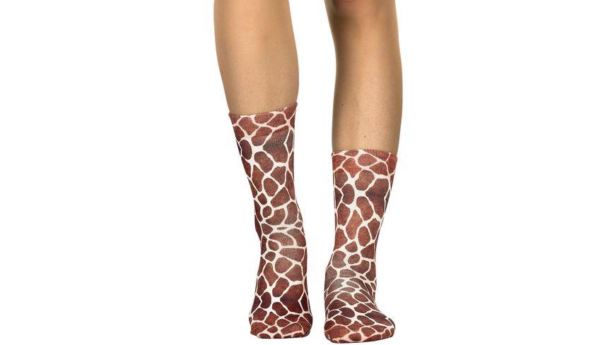 wigglesteps Damen Socken Giraffe