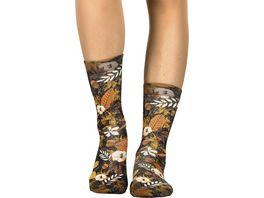 wigglesteps Damen Socken Autumn Leaves