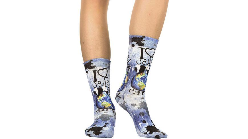 wigglesteps Damen Socken Panda's Earth