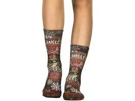 wigglesteps Damen Socken Jingle Bell