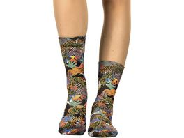 wigglesteps Damen Socken Party Jungle