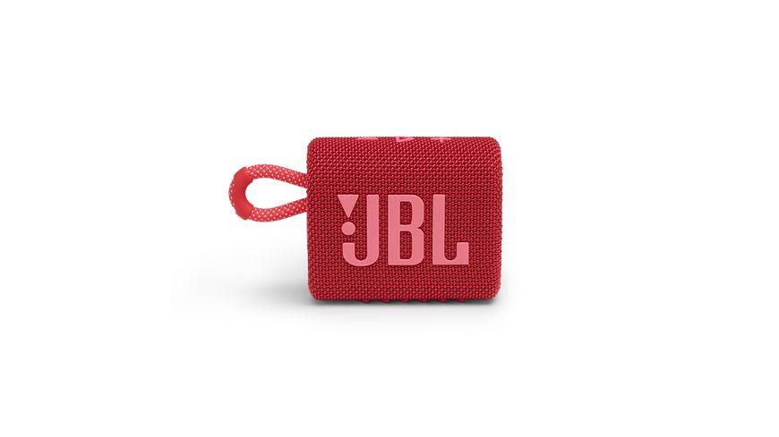 JBL GO 3 Bluetooth Lautsprecher Rot