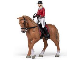 Papo Trabendes Pferd mit jungen Reiterin 51564