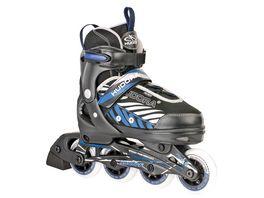 HUDORA Inline Skates Leon Gr 33 36 schwarz blau 28236