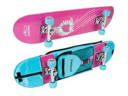HUDORA Skateboard Skate Wonders ABEC 3 mit Rucksack 12172