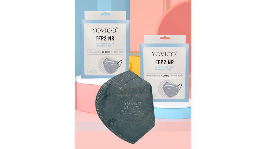 YOVICO Filtering Half Mask FFP2 NR *GREY