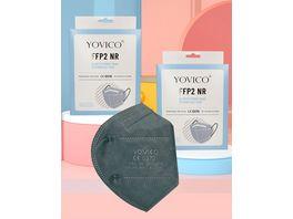 YOVICO Filtering Half Mask FFP2 NR GREY