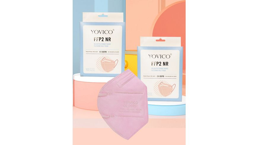 YOVICO Filtering Half Mask FFP2 NR *ROSA