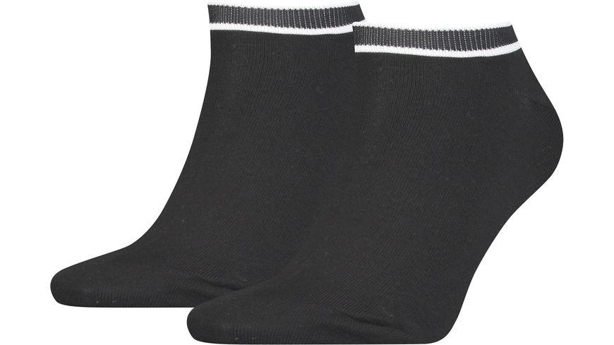Calvin Klein Damen Sneaker Socken Logo Ribbon 2er Pack