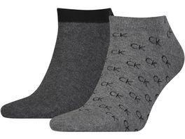 Calvin Klein Herren Sneaker Socken All Over Logo 2er Pack