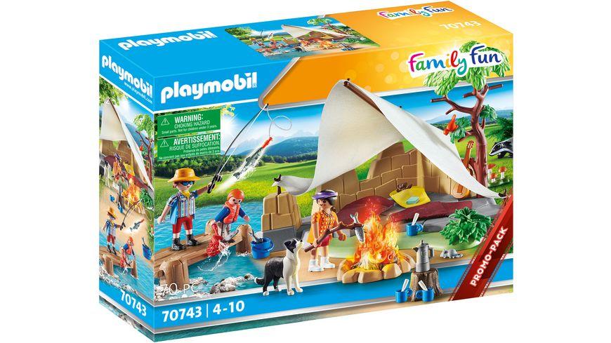 PLAYMOBIL 70743 - Family Fun - Familie beim Campingausflug