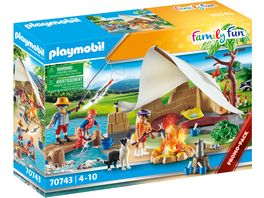PLAYMOBIL 70743 Family Fun Familie beim Campingausflug