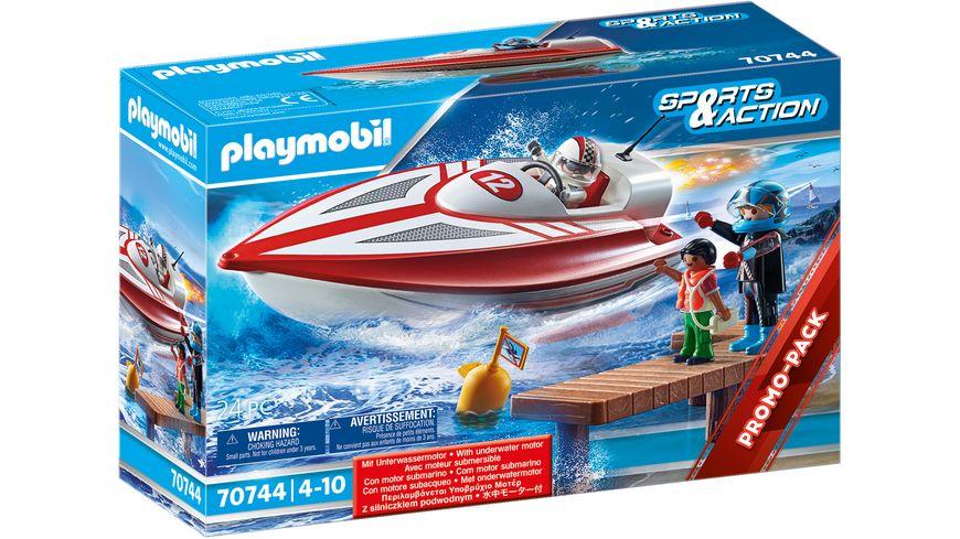 PLAYMOBIL 70744 -  Sports & Action - Speedboot mit Unterwassermotor