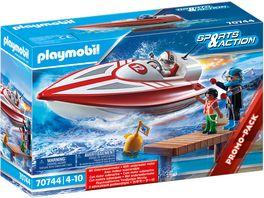 PLAYMOBIL 70744 Sports Action Speedboot mit Unterwassermotor