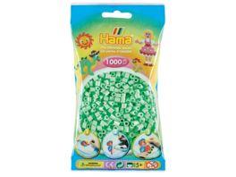 Hama Buegelperlen midi5 Beutel mit Midi Perlen Ca 1 000 Perlen Pastell Mint