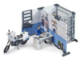 BRUDER bworld Polizeistation mit Polizeimotorrad 62732