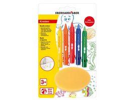 EBERHARD FABER Mini Kids Badkreiden mit Schiebehuelse 5 Farben Schwamm