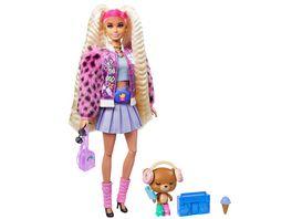 Barbie Extra Puppe mit blonden Zoepfen Anziehpuppe Modepuppe