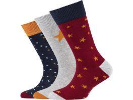s Oliver Kinder Socken Organic Cotton Stars 3er Pack