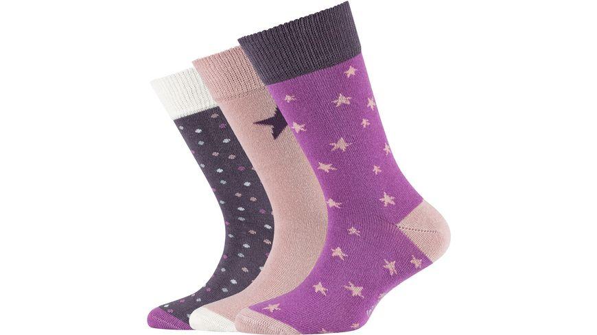 s.Oliver Kinder Socken Organic Cotton Stars 3er Pack