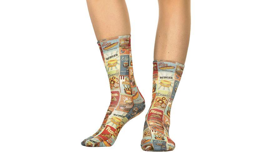 wigglesteps Damen Socken Fast Food